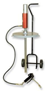 pneumatische Fasspumpe mit Fahrwagen